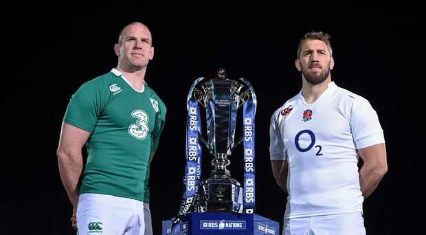 Ireland's Paul O'Connell and England's Chris Robshaw will do battle this weekend at the AViva Stadium.