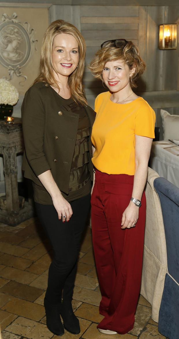 Claire Byrne and Sonya Lennon at the Bobbi Brown Dress For Success charity lunch at Residence
