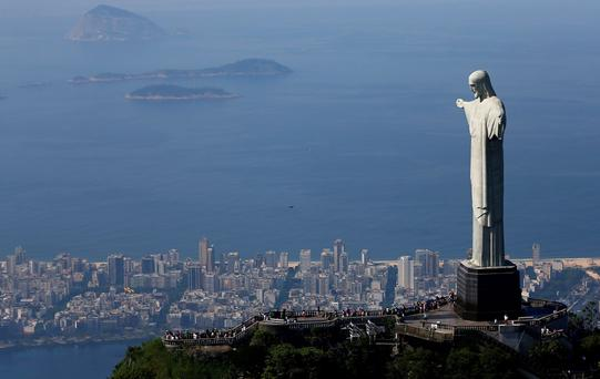 Christ the Redeemer statue in Rio de Janeiro (BRAZIL - Tags: ANNIVERSARY SOCIETY TRAVEL CITYSCAPE)