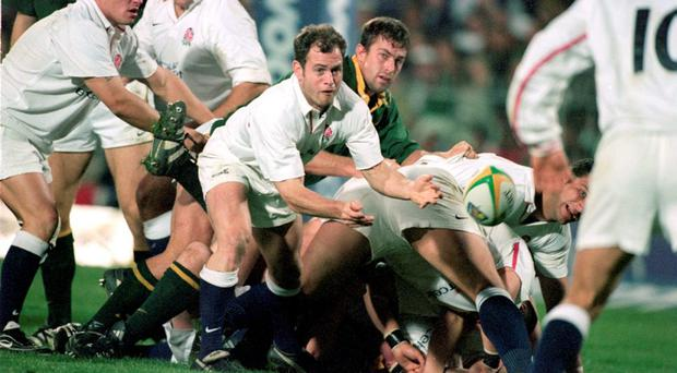 Kyran Bracken in action for England against Ireland in the Five Nations back in 1999