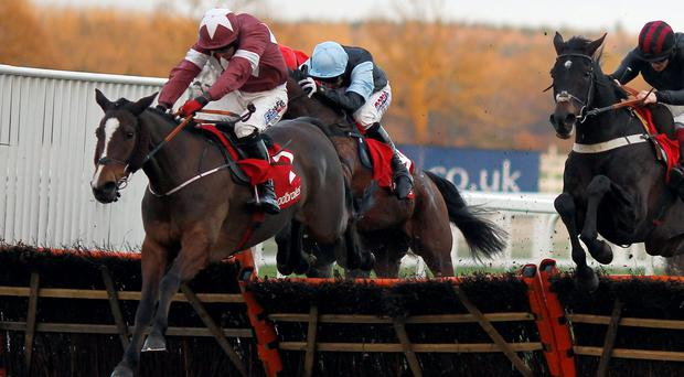 Bayan, here winning the Ladbroke Hurdle at Ascot under Davy Condon, is on his way to France to run at Auteuil on Sunday