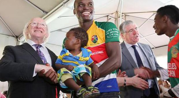 President Higgins attended a GAA blitz in South Africa last year where he met members of South Africa Gaels.