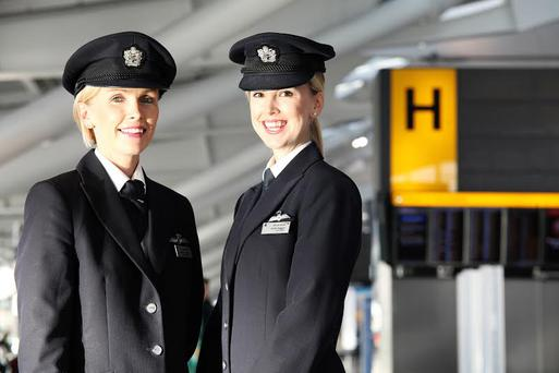 Sisters Aoife and Cliodhna Duggan from Dublin. Aoife is a First Officer and Cliodhna a pilot with British Airways.