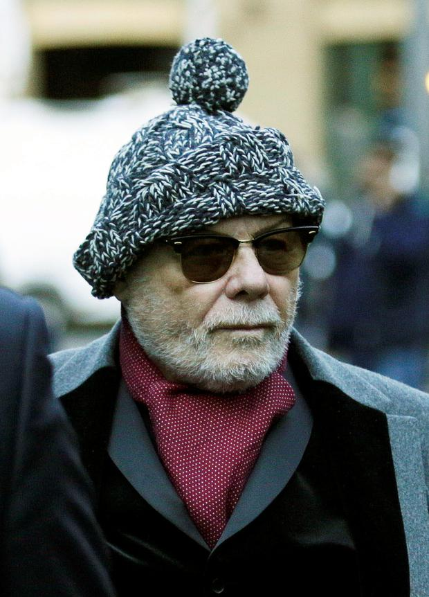 Gary Glitter has been jailed for 16 years at Southwark Crown Court for a string of historic sex attacks on three schoolgirls. Photo: Nick Ansell/PA Wire