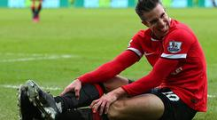 Van Persie faces a spell on the sidelines