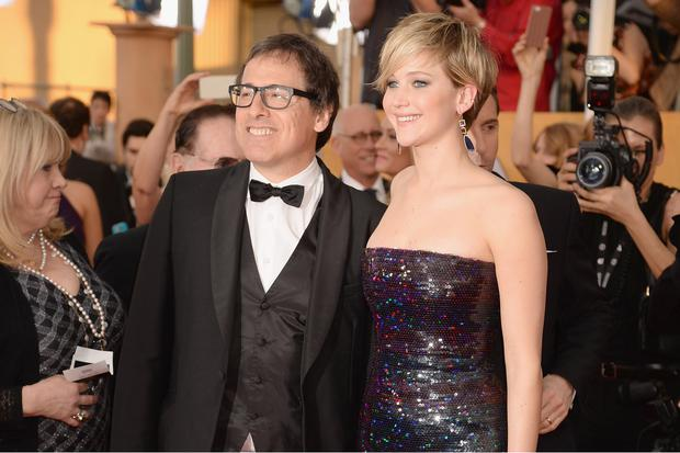 Director David O. Russell (L) and actress Jennifer Lawrence attend the 20th Annual Screen Actors Guild Awards