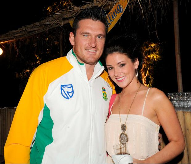 Graeme Smith and Morgan Deane in 2011