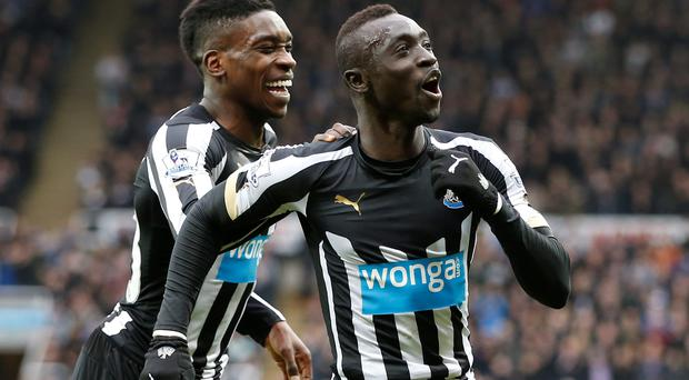 Papiss Cisse celebrates after scoring the first goal for Newcastle Reuters / Andrew Yates