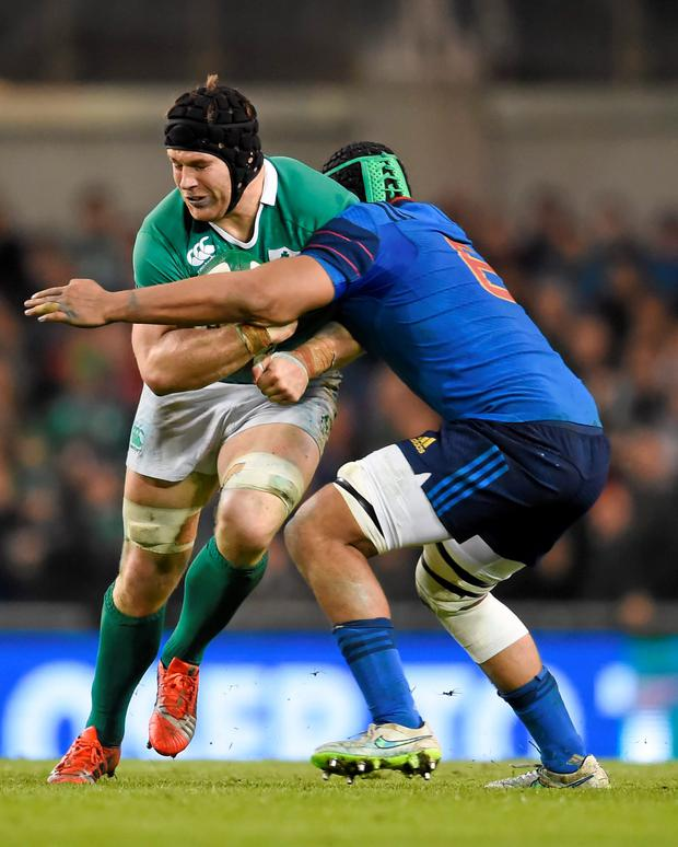 Seán O'Brien played with frightening intensity against France