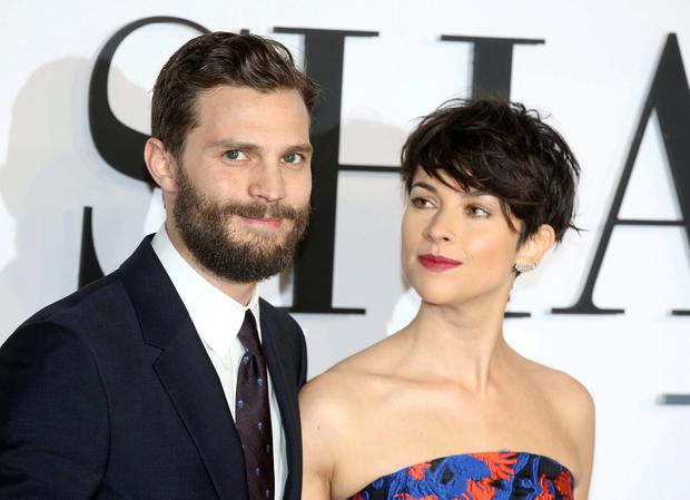 Jamie Dornan and his wife Amelia Warner arrive for the British premiere of the movie 'Fifty Shades of Grey' in London