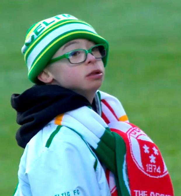 Jay Beatty, a 13-year-old Celtic fan, won Scottish football's goal of the month award after a landslide online vote.