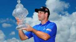 Padraig Harrington of Ireland poses with the trophy after winning The Honda Classic at PGA National Resort & Spa - Champion Course on March 2, 2015 in Palm Beach Gardens, Florida. (Photo by David Cannon/Getty Images)