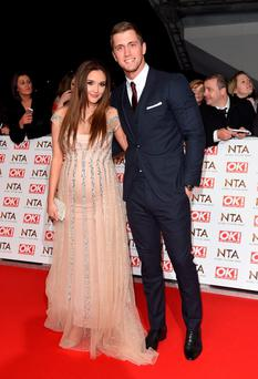 Jacqueline Jossa and Dan Osborne attend the National Television Awards at 02 Arena on January 21, 2015 in London, England. (Photo by Karwai Tang/WireImage)