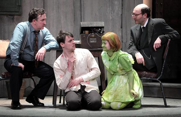 Actors Gary Lydon, Peter Campion,Rosa Mikela and David McSavage - Cast members of The Pillowman By Martin McDonagh