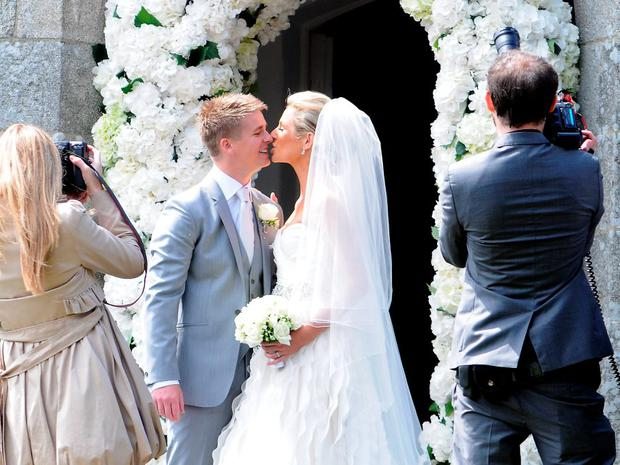 TV Presenter Brian Ormond & model Pippa O'Connor's wedding in 2011