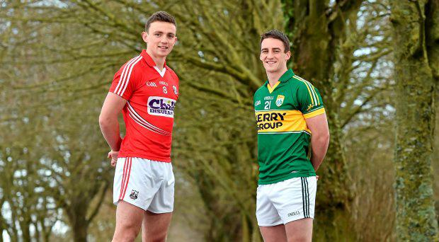 Cork's Mark Collins, left, and Kerry's Stephen O'Brien in attendance at an Allianz GAA Regional Media Day. Imperial Hotel, Cork