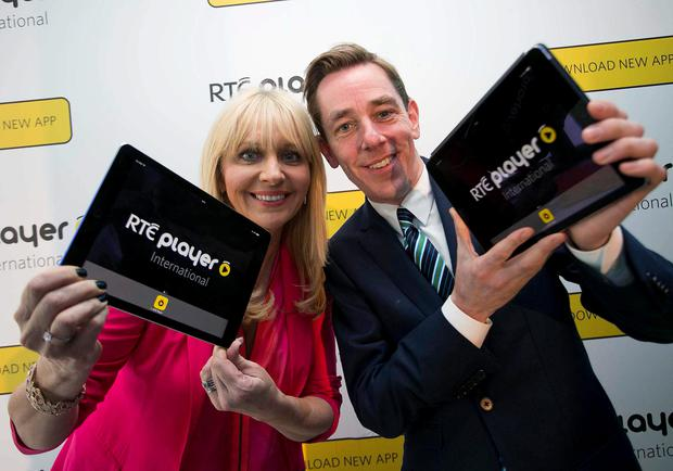Pictured at the RTE Player International launch are Miriam O'Callaghan and Ryan Tubridy