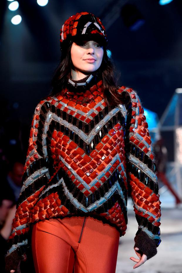 Kendall Jenner walks the runway during the H&M show as part of the Paris Fashion Week Womenswear Fall/Winter 2015/2016