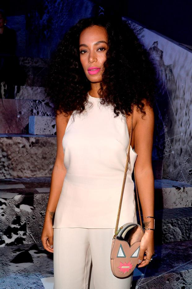 Solange Knowles attends the H&M show as part of the Paris Fashion Week Womenswear Fall/Winter 2015/2016