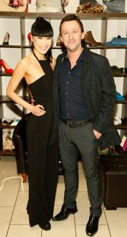 Yomiko Chen with husband Ian Conway at the Divine Boutique Spring Summer show
