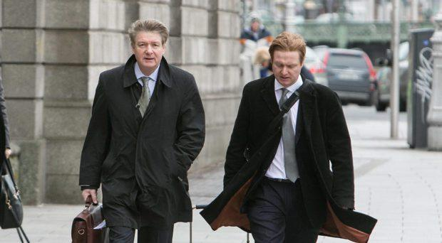 Brian O'Donnell arrives at the Court with his Son Blake.