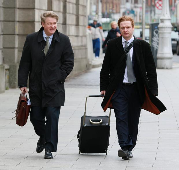 Brian O Donnell and his son, Blake, pictured arriving at the Four Courts for a High Court hearing