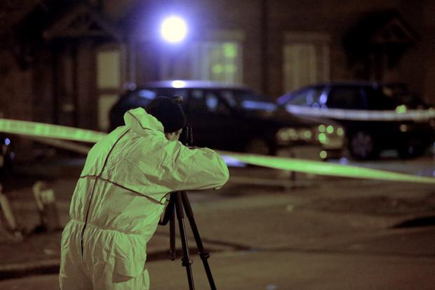 Gardai investigate the non fatal shooting of a man and a woman at Grange View Lawns in Clondalkin