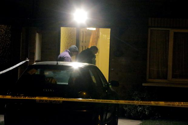 Gardai investigate the non fatal shooting of a man and a pregnant woman at Grange View Lawns in Clondalkin
