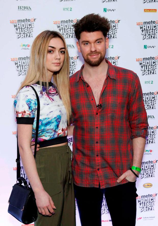 Jo Archbold and Eoghan McDermott pictured at the Meteor Choice Music Prize Live Event at Vicar St, Dublin. Pic. Robbie Reynolds