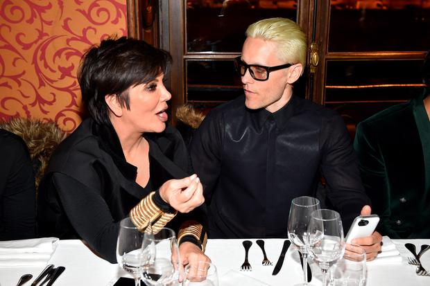Kris Jenner and Jared Leto attend the Balmain Aftershow Dinner as part of the Paris Fashion Week Womenswear Fall/Winter 2015/2016 on March 5, 2015 in Paris, France.