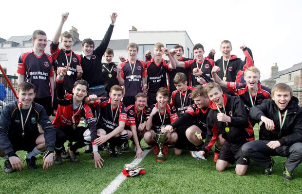 The victorious Gaelcholaiste na Mara who beat Templeogue in the Leinster Schools Final