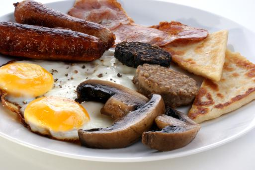 The full Irish breakfast