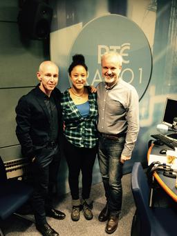 Safia with Ray D'Arcy and dad Colm