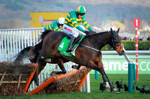 Barry Geraghty rode Jezki to victory in the Champion Hurdle in 2014 for McManus