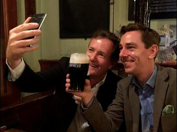 Pic of Piers Morgan and Ryan Tubridy tweeted by Karl Brophy