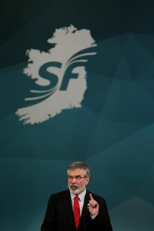 GERRY ADAMS: The Sinn Fein leader denies his party covered up for sex abusers