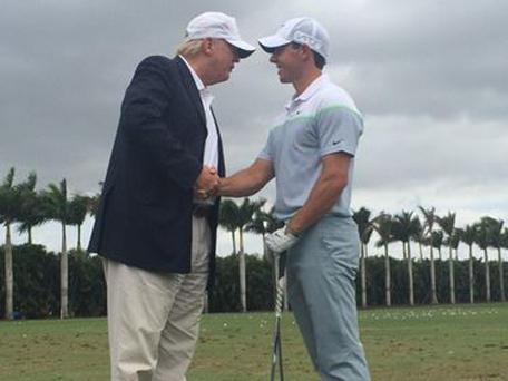 Donald Trump and Irish golfer Rory McIlroy