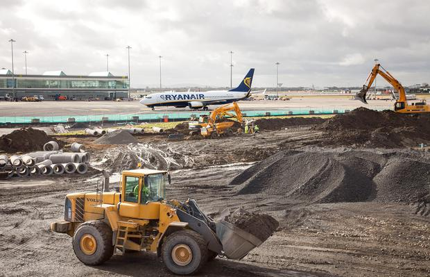 Works underway on expanding Dublin Airport