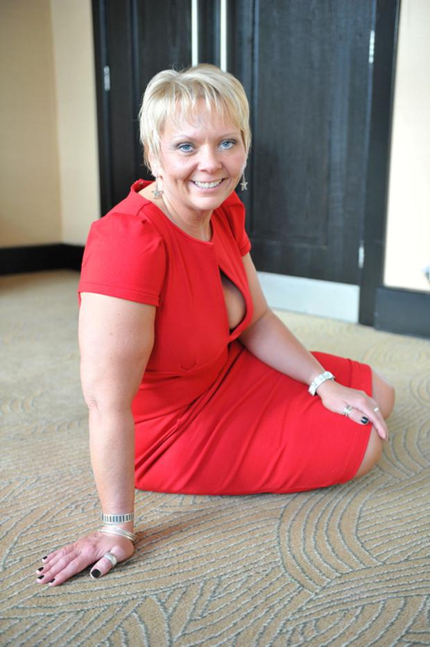 Blanch Fox (pictured) has lost 17 stone and has set up her own slimming club called Waist A-Weigh. Blanch is now a size 12 after losing more than 238 pounds. Pic Ciara Wilkinson.