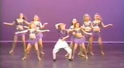 Ryan Gosling performs in Hammer pants in 1992