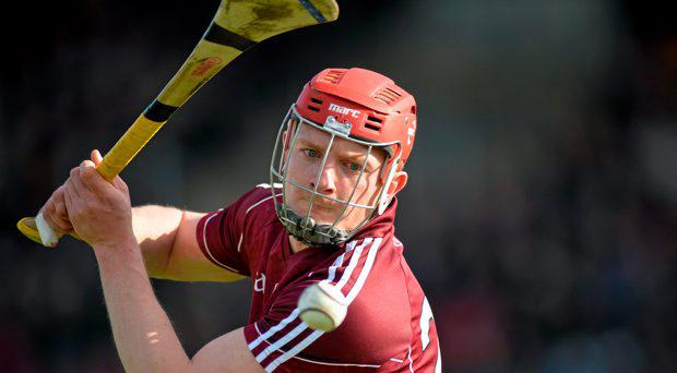Joe Canning, Galway, takes a free. Allianz Hurling League, Division 1A, Round 3, Galway v Kilkenny, Pearse Stadium, Galway. Picture credit: Ray Ryan / SPORTSFILE