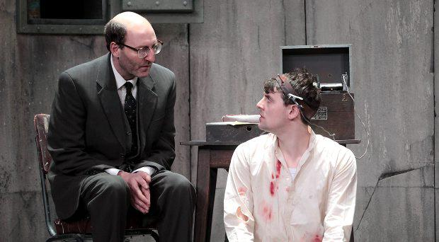 Actors David McSavage and Peter Campion in The Pillowman