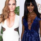 Cara Delevingne (left) and Naomi Campbell (right)