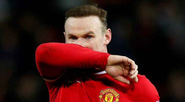 Manchester United's Wayne Rooney looks dejected after the game