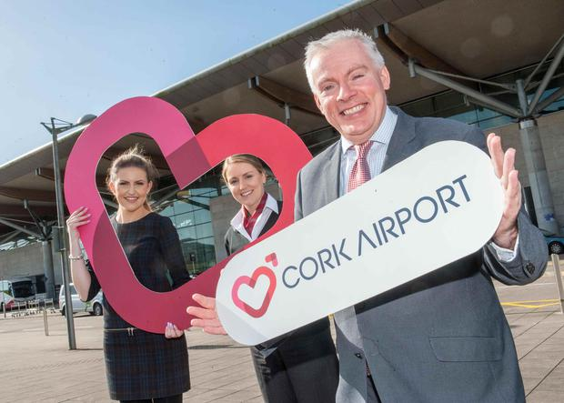 Niall MacCarthy, Managing Director at Cork Airport (right), pictured at the launch of the airport's new brand identity this year.
