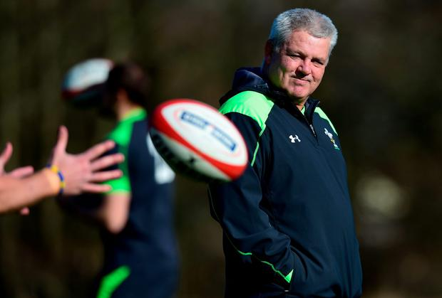 Wales coach Warren Gatland insists he is not overly concerned by the fact that Johnny Sexton has overcome his hamstring strain in time to lead Ireland's backline in their Six Nations clash. Photo: Stu Forster/Getty Images