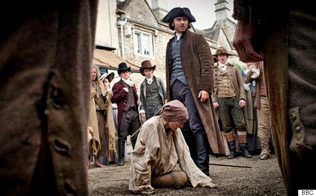 Poldark - the offending burglar alarm can be spotted in the background