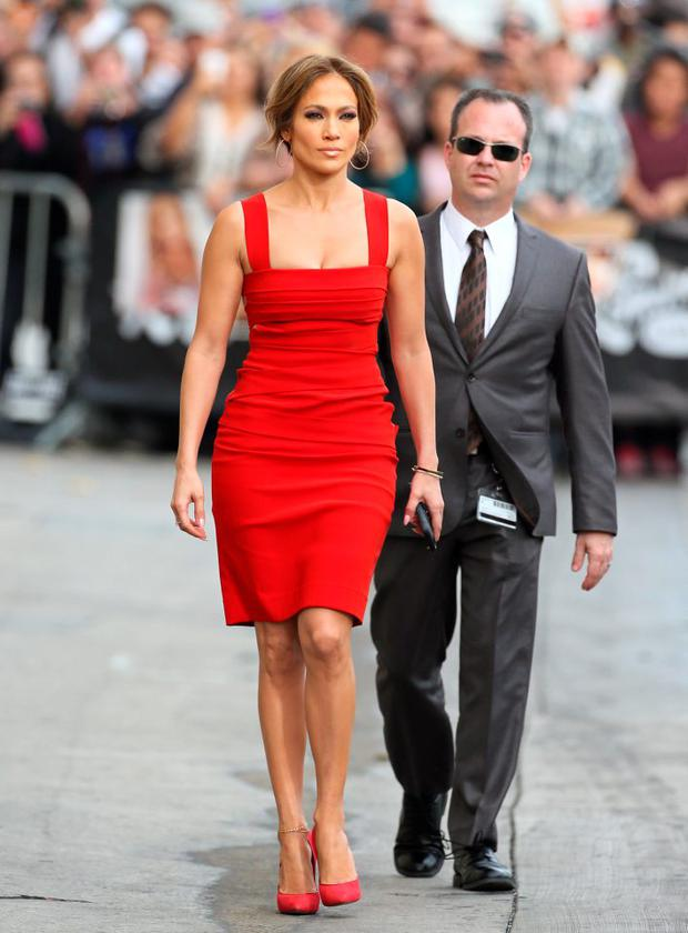 Jennifer Lopez is seen at 'Jimmy Kimmel' Live on March 10, 2015 in Los Angeles, California. (Photo by JB Lacroix/GC Images)