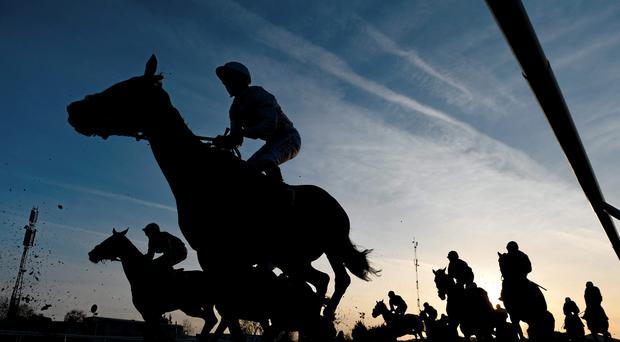 10 March 2015; A general view of the CHAPS Restaurant Barbados Novices' Handicap Chase. Cheltenham Racing Festival 2015, Prestbury Park, Cheltenham, England. Picture credit: Ramsey Cardy / SPORTSFILE