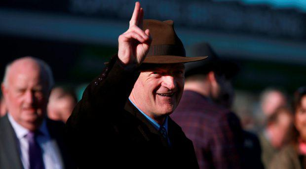 Trainer Willie Mullins after victory in the Stan James Champion Hurdle Challenge Trophy on Champion Day, during the Cheltenham Festival at Cheltenham Racecourse